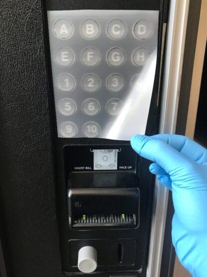 """4"""" SharkletShield germ barrier film on vending machine"""