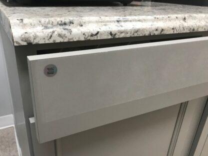 """4"""" SharkletShield Germ barrier tape on a kitchen drawer"""